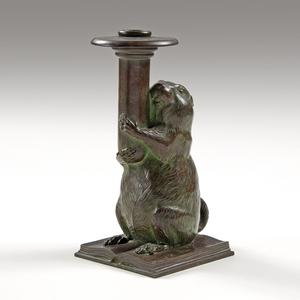 Tiffany Studios Rowfant Club Bronze Candlestick
