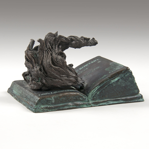 Sandro Bonaiuto (20th Century) Rowfant Club Bronze Candlestick