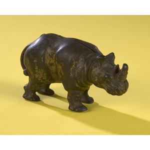 Cast Iron Rhino Still Bank,