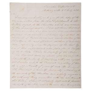 Georgia Governor George R. Gilmer, ALS Regarding Cherokee Indians, 1830