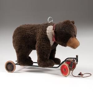 Steiff Teddy Bear on Wheels