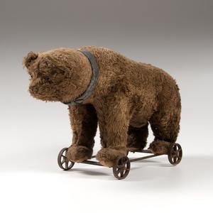 German Teddy Bear on Wheels
