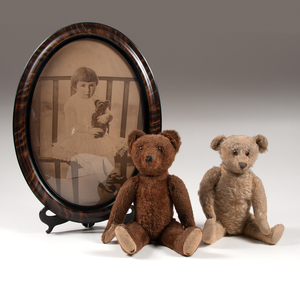Mohair Teddy Bears, Plus, Lot of Three