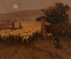 Eanger Irving Couse (American, 1866-1936), Oil on Board