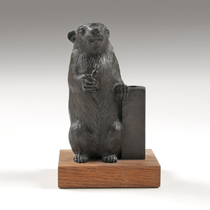William McVey (American,1905-1995) Rowfant Club Bronze Candlestick