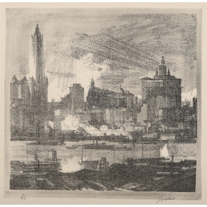 Charles Wheeler Locke (American, 1899-1983) Lithograph and F. W. W. Hoppe (American, 20th century) Etching