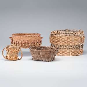 Northeastern Native American Split Ash Baskets