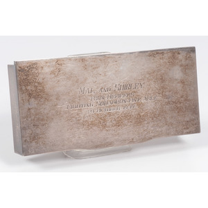 Sterling Cigarette Box with Presentation from American Aviators