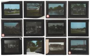 [Photography - Glass Slides - Ohio State University] Collection of  29 Magic Lantern Glass Slides - Ohio State University Campus 1920's
