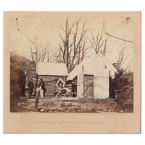 Civil War Albumen Photograph Residence, Chief Quartermaster, Third Army Corps, Brandy Station, 1863, by Gardner