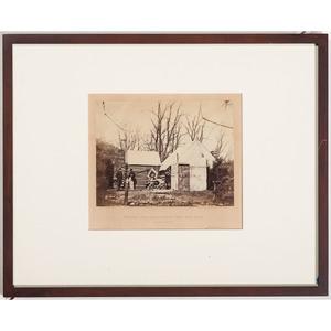 Civil War Albumen Photograph Residence, Chief Quartermaster, Third Army Corps, Brandy Station, 1863, by Gardner
