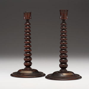 Relic Candlesticks from Wood from the HMS Britannia