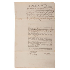 Revolutionary War Bounty Land Deeds, Collection of 26 Signed Over to Solomon Maxfield
