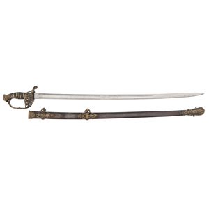 Import High Grade U.S. Model 1850 Foot Officer's Sword Attributed to
