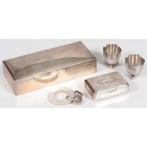 Silver Accessories Including Tiffany Rattle