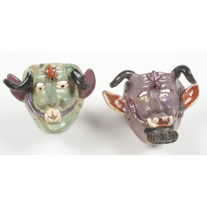 Mexican Ceramic Devil Masks, Deaccessioned from Children's Museum of Indianapolis