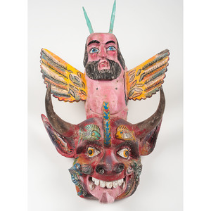 Mexican Transformation Parade Mask, Deaccessioned from Children's Museum of Indianapolis