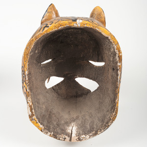 Mexican Devil and Jaguar Parade Masks, Deaccessioned from the Children's Museum of Indianapolis