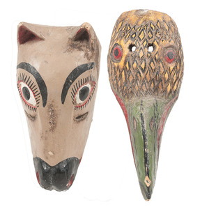 Mexican Horse and Parrot Parade Masks, Deaccessioned from the Children's Museum of Indianapolis