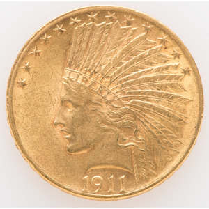 United States Indian Head $10 Gold Coin 1911