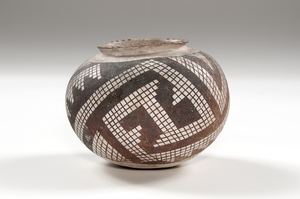 Anasazi Snowflake Black-on-White Bowl