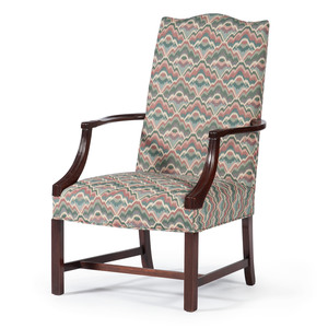 A Federal-style Lolling Chair in Mahogany
