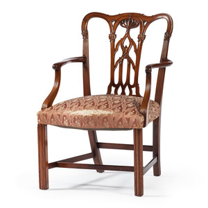 A Chippendale-style Armchair in Walnut