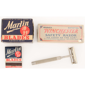 Lot of Winchester and Marlin Shaving Supplies