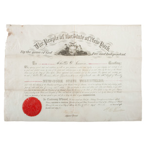 New York 11th Cavalry Collection of Civil War Documents for C.D. Swain, 11th NY Cavalry
