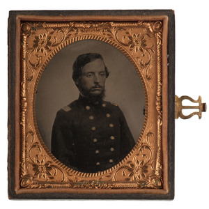 Sixth Plate Tintype of General John M. Corse, 6th Iowa Infantry