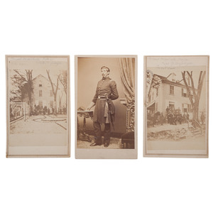 Large Civil War Collection of New Bern, NC Images, Incl. Captain Edward D. Messinger, 35th New York Infantry, and his Headquarters