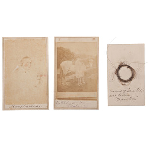 Robert E. Lee & Family CDVs, incl. View Autographed by Mary Custis Lee