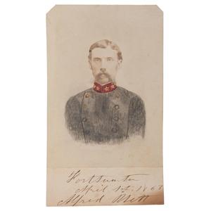 CSA Lieutenant Colonel Alfred Rhett, Rare Autographed CDV
