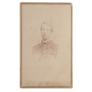 CSA Private Eber R. Robertson, 4th South Carolina Cavalry, CDV by Wearn & Hix, Columbia, SC