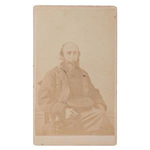 CDV of Confederate Fort Warren POW Blockade Runner Captain George F. Trescott