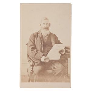 CDV of Confederate Fort Warren POW John Carnighan