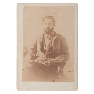 CDV of CSA Captain Elijah Exum Patterson, 9th and 15th Tennessee Cavalry