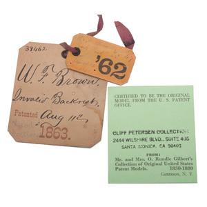 Civil War-Era Patent Model of Backrest for Invalids
