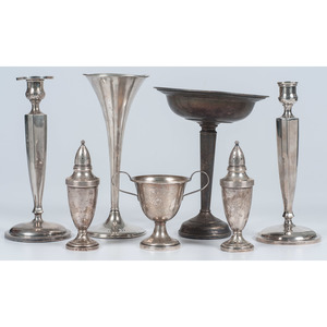 Weighted Sterling Candlesticks and Accessories