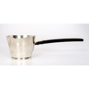 Allan Adler Sterling and Ebony Sauce Server, Town and Country