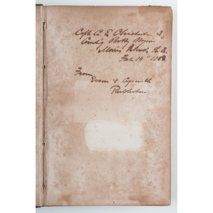 CSA Tactic Book: Attack and Defence of Permanent Works, Twice Inscribed by South Carolina Captain