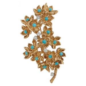 Tiffany & Co. 18 Karat Yellow Gold Brooch