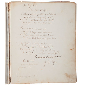 Cherokee Nation Autograph Album Owned by Miss Victoria Hicks, Niece of Chief John Ross