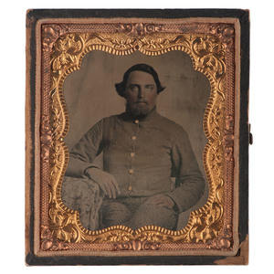 Sixth Plate Ambrotype of Confederate North Carolina Soldier