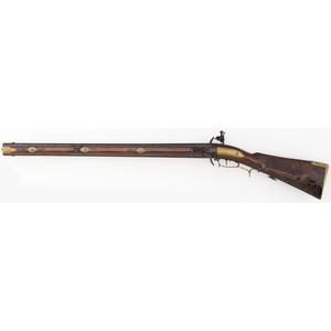German Swivel Breech Flintlock Rifle