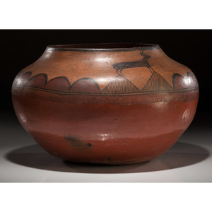 Zia Pictorial Pottery Olla, From the Collection of Forrest Fenn