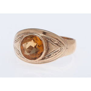 10 Karat Yellow Gold Citrine Ring