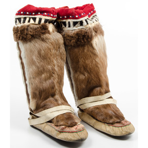 Greenlandic Inuit Walrus and Caribou Mukluks, From the Collection of William H. Saunders, M.D. and Putzi Saunders, Ohio