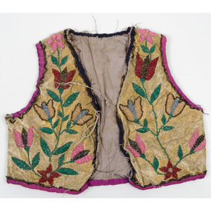 Northern Plains Child's Beaded Hide Vest, From an Old Nebraska Collection