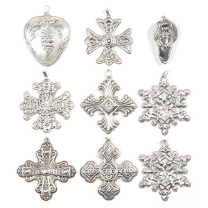 American Silver Christmas Ornaments